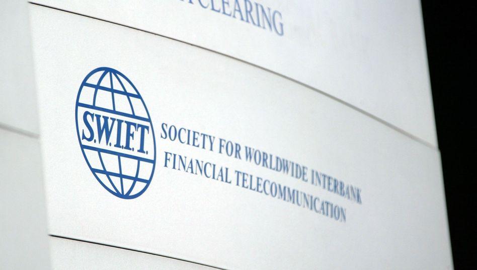 Swift-Logo: Der Dienstleister wickelt für Banken den Zahlungsverkehr ab