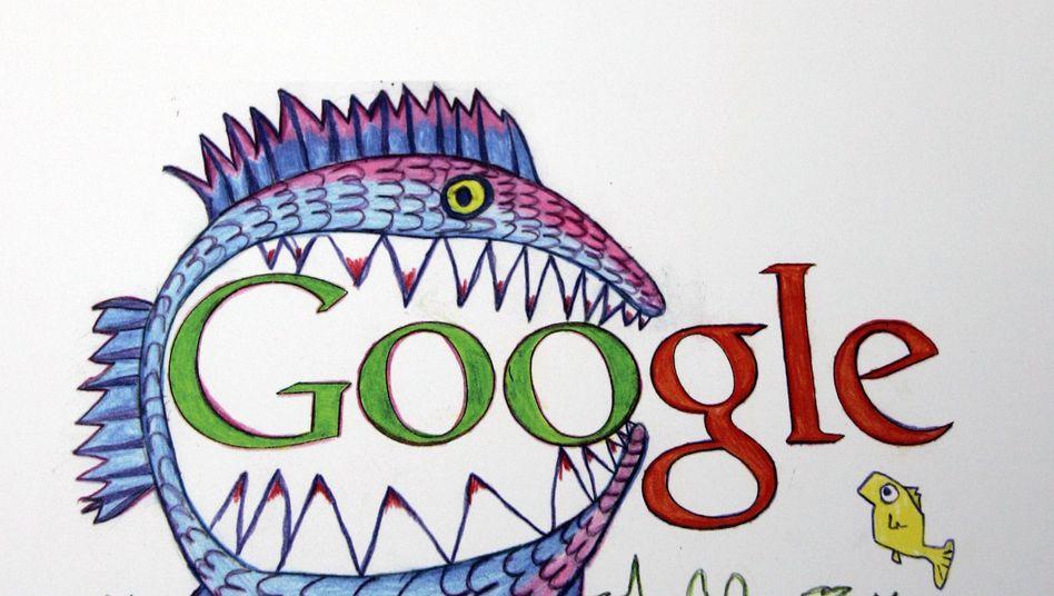 Google-Doodle (Variation aus einer Doodle-Ausstellung): Twoogle im Anmarsch?