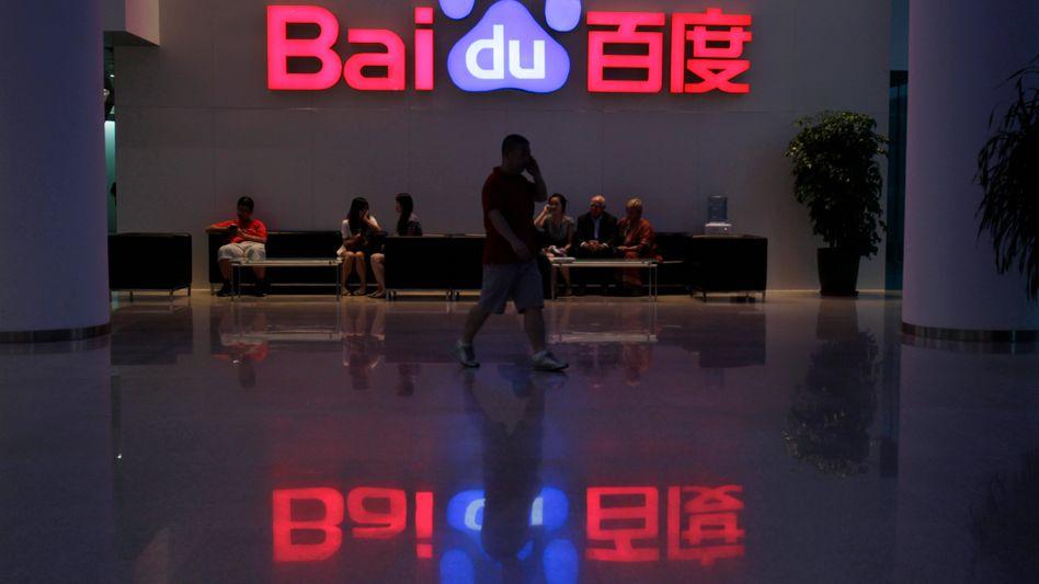 Baidu-Logo in Peking: 80 Prozent mehr Gewinn