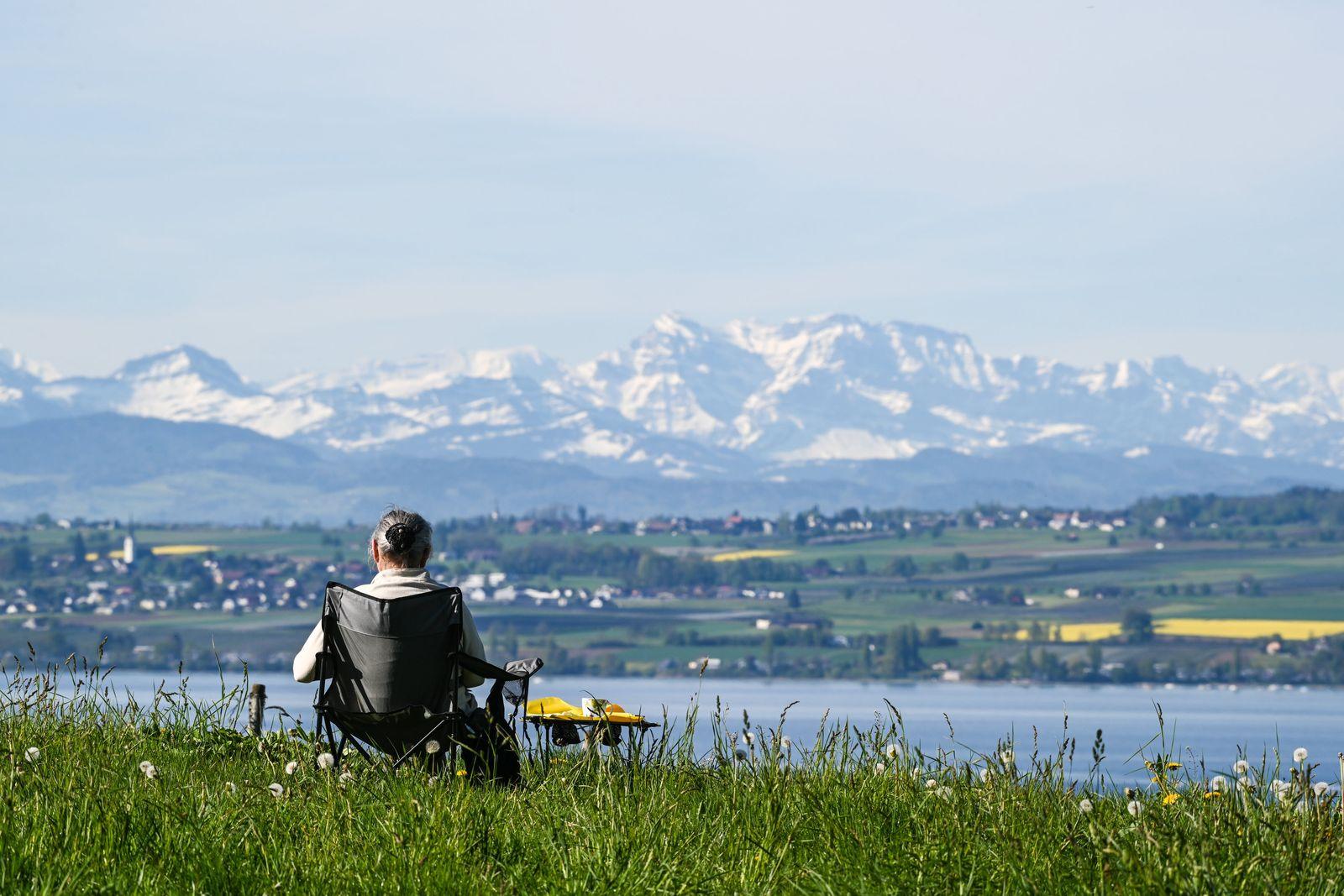 Sommerliche Temperaturen am Bodensee