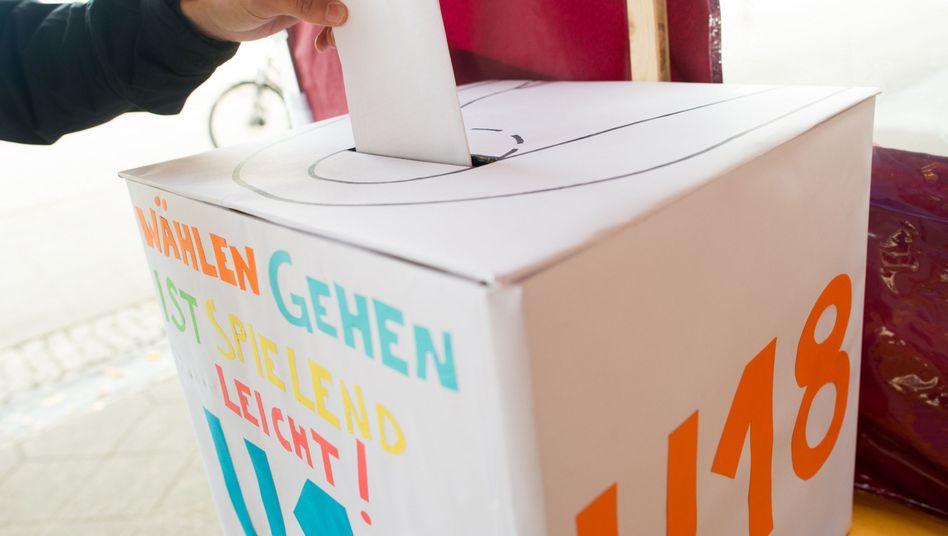 Wahlurne der U-18-Wahl