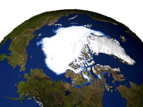 On Sept. 21, 2005, sea ice extent dropped to 2.05 million sq. miles, the lowest extent yet recorded in the satellite record.