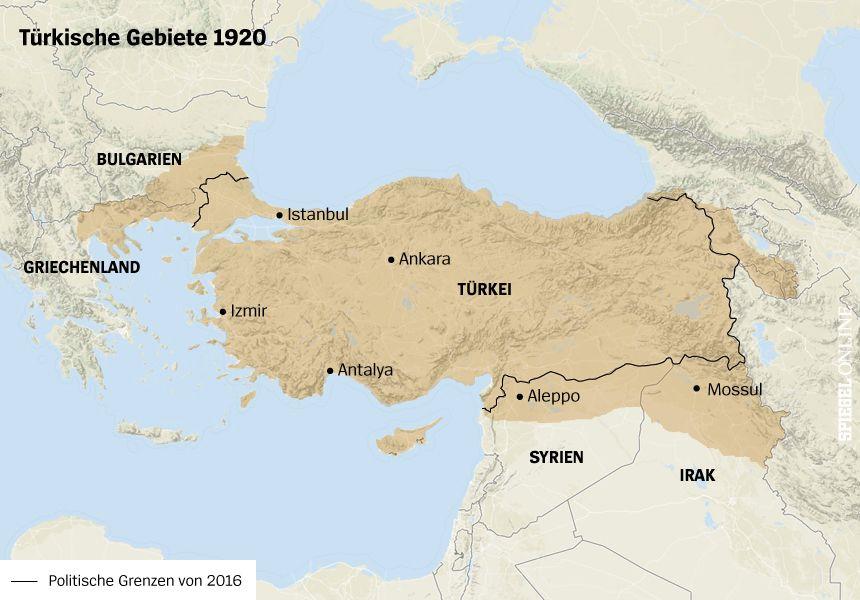 Karte Türkei Gebiete 1920
