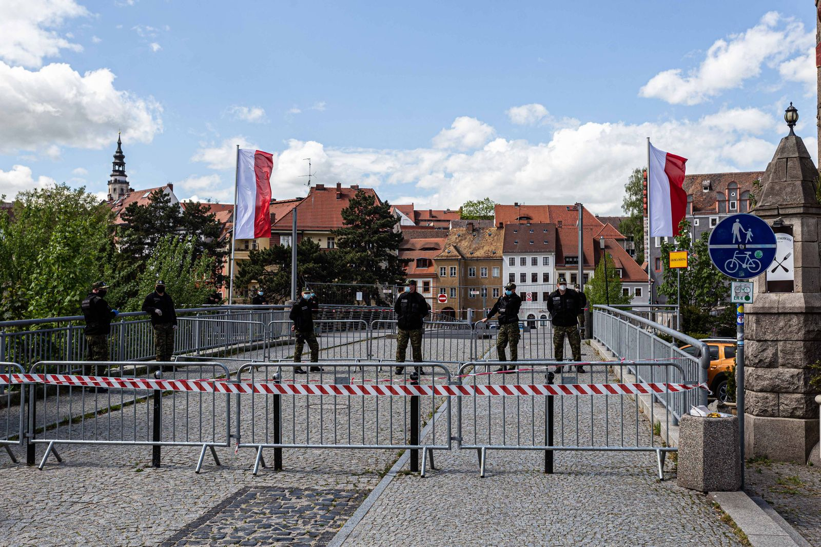 May 1, 2020, Wroclaw, Poland: 1 May 2020 Zgorzelec Poland The closed Polish-German border in Zgorzelec / Goerlitz. The b