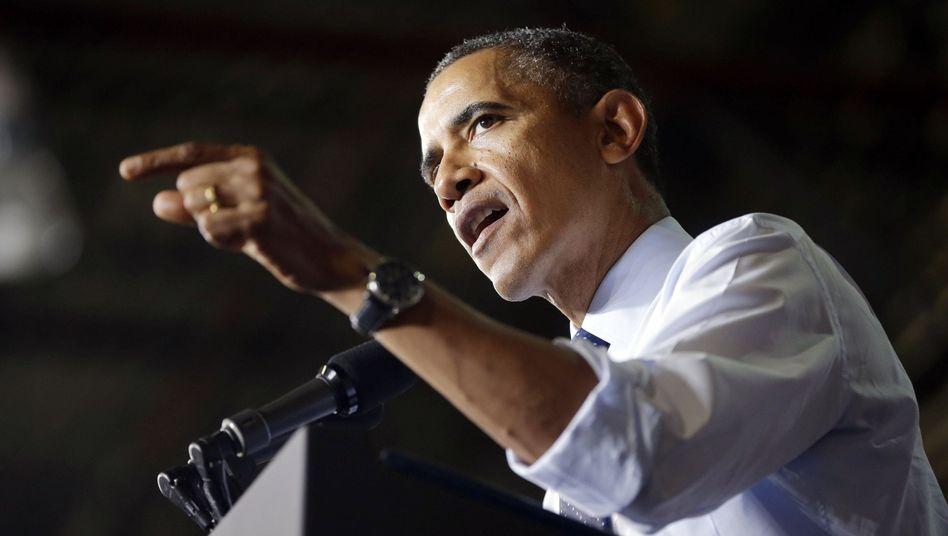"""US-Präsident Obama (am Freitag in Kansas): """"Sie halten das Land als Geisel"""""""