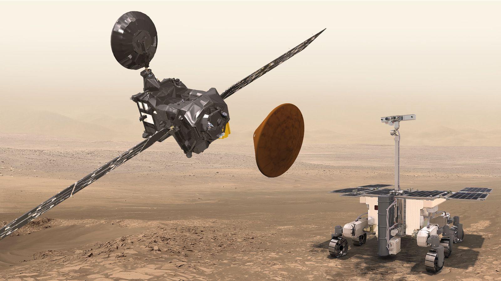 ExoMars - Trace Gas Orbiter, Schiaparelli and the ExoMars rover