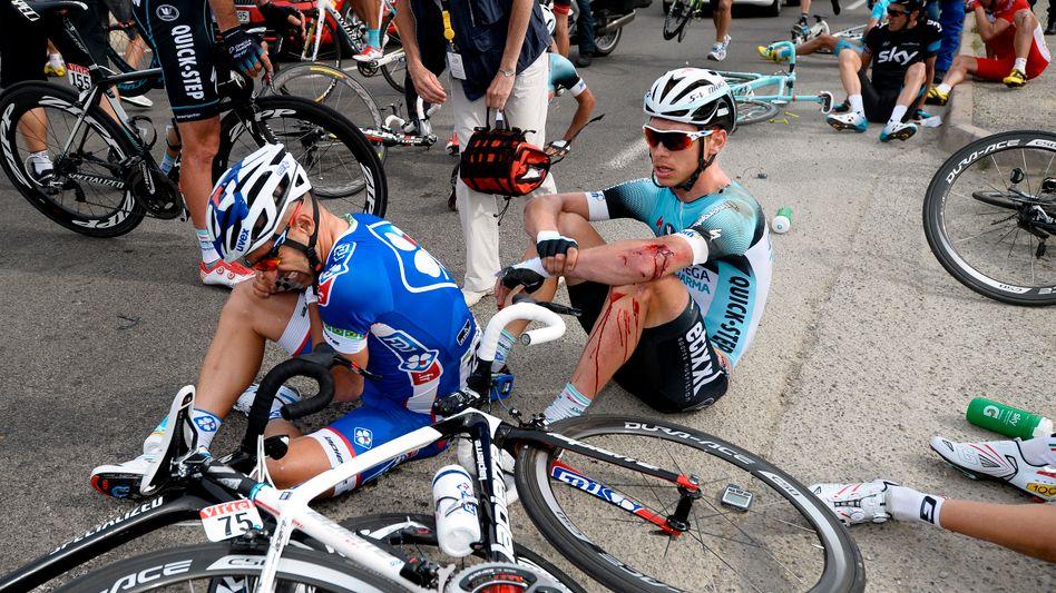 Tony Martin nach seinem Sturz bei der Tour de France 2013
