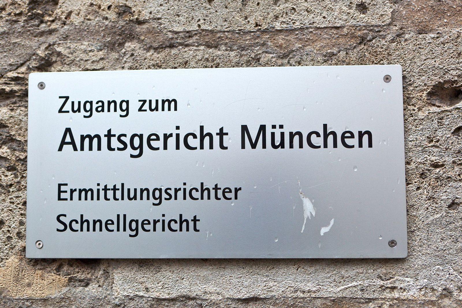 EINMALIGE VERWENDUNG Amtsgericht München