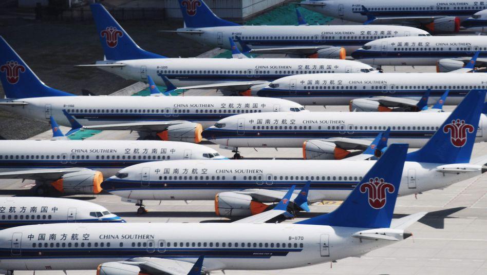 Geparkte Boeing 737 Max von China Southern Airlines (Archivbild)