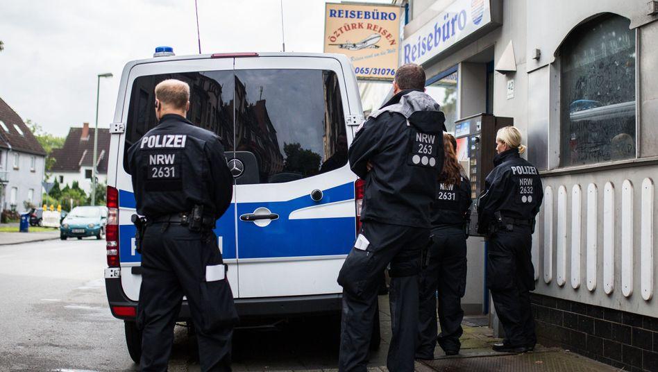 Polizisten in Duisburg