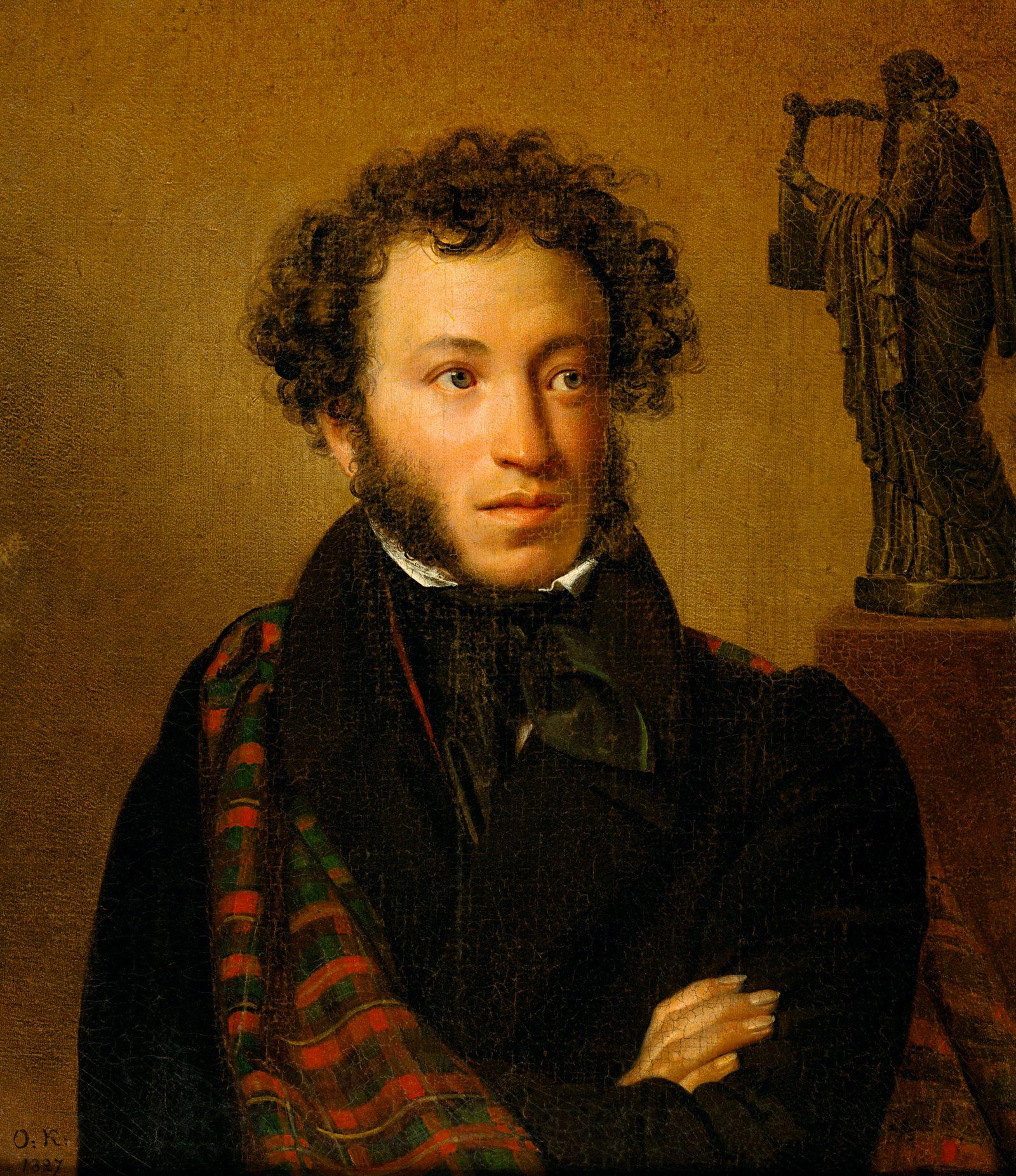 ?Porträt des Dichters Alexander Sergejewitsch Puschkin?, Gemälde, 1827, von Orest Kiprenski