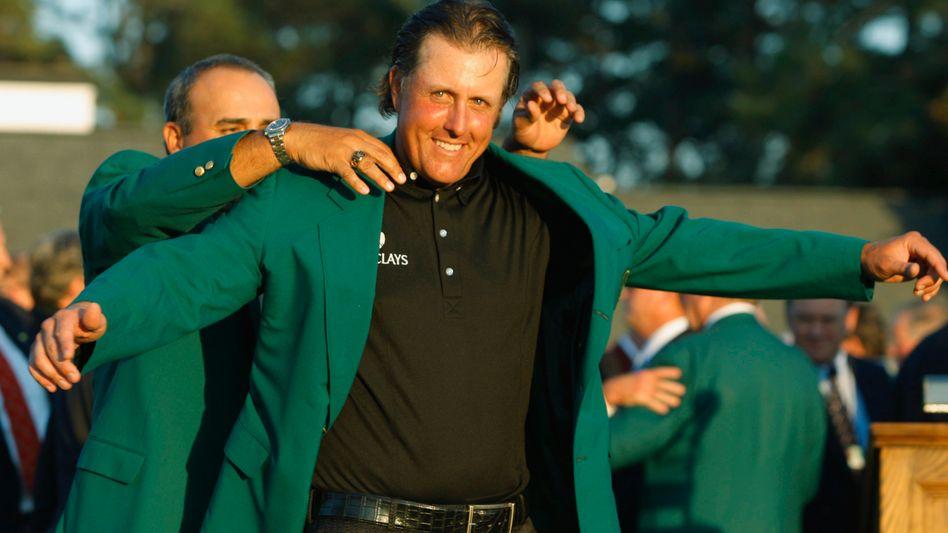 Masters-Sieger Mickelson: Dritter Triumph nach 2004 und 2006
