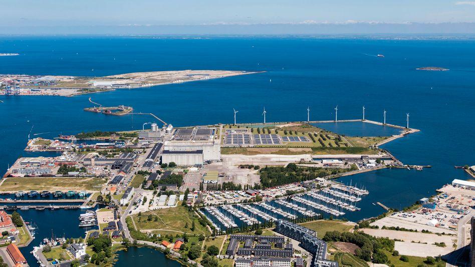 Blick auf die Küste: Hier soll künftig eine künstliche Insel die Folgen des Klimawandels bremsen