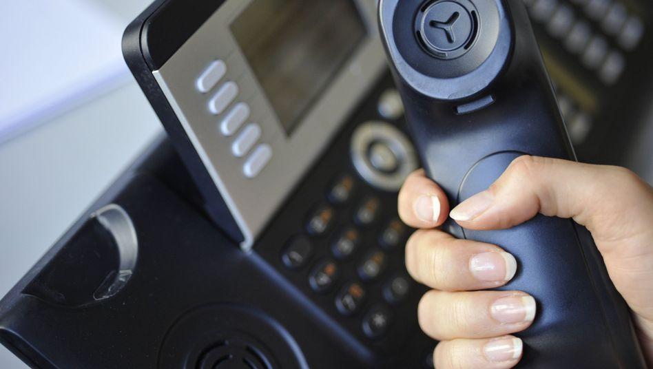 Am Telefon: Die Speicherung von Verbindungen ist kein Mittel zur Prävention