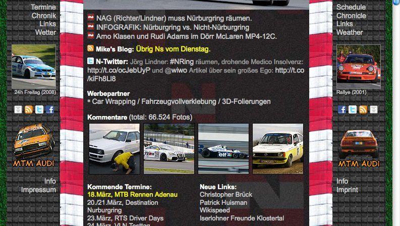 Nürburgring-Website 20832.com: Unterlassungserklärung führt zu Verfassungsbeschwerde