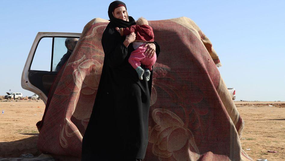 Leonora in Syrien (Archiv): Nach der Landung in Deutschland festgenommen