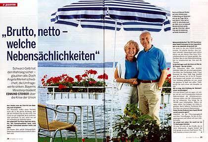"""Ehepaar Stoiber im """"Stern"""": Wie aus dem Bilderbuch der Medienprofis"""