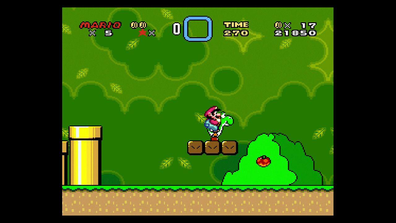 NUR ALS ZITAT Screenshot SNES Mini Classic/ 1_Super Mario World SPERRFRIST 27.9. 16 Uhr