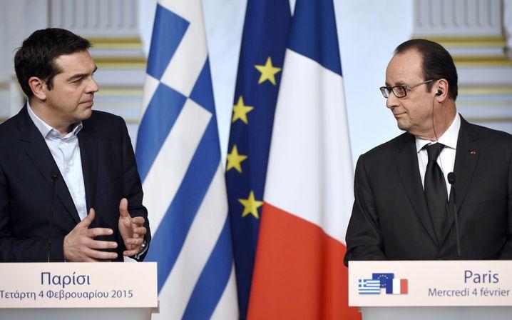 Tsipras, Hollande in Paris: Kein Verbündeter gegen den Sparkurs