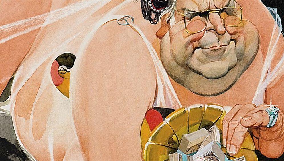 Helmut Kohl in Karikaturen: Die Bergamotte-Birne und der Mantel der Geschichte