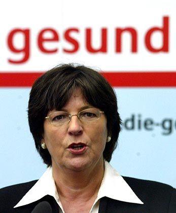 """Ministerin Schmidt: """"Ich zweifle daran, dass die Krankenkassenvorstände immer den Überblick über die Finanzlage haben"""""""