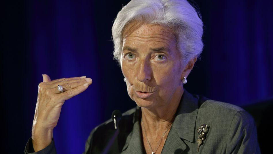 IWF-Chefin Christine Lagarde: Die EZB versucht mit sehr niedrigen Zinsen, die Inflation nach oben zu treiben