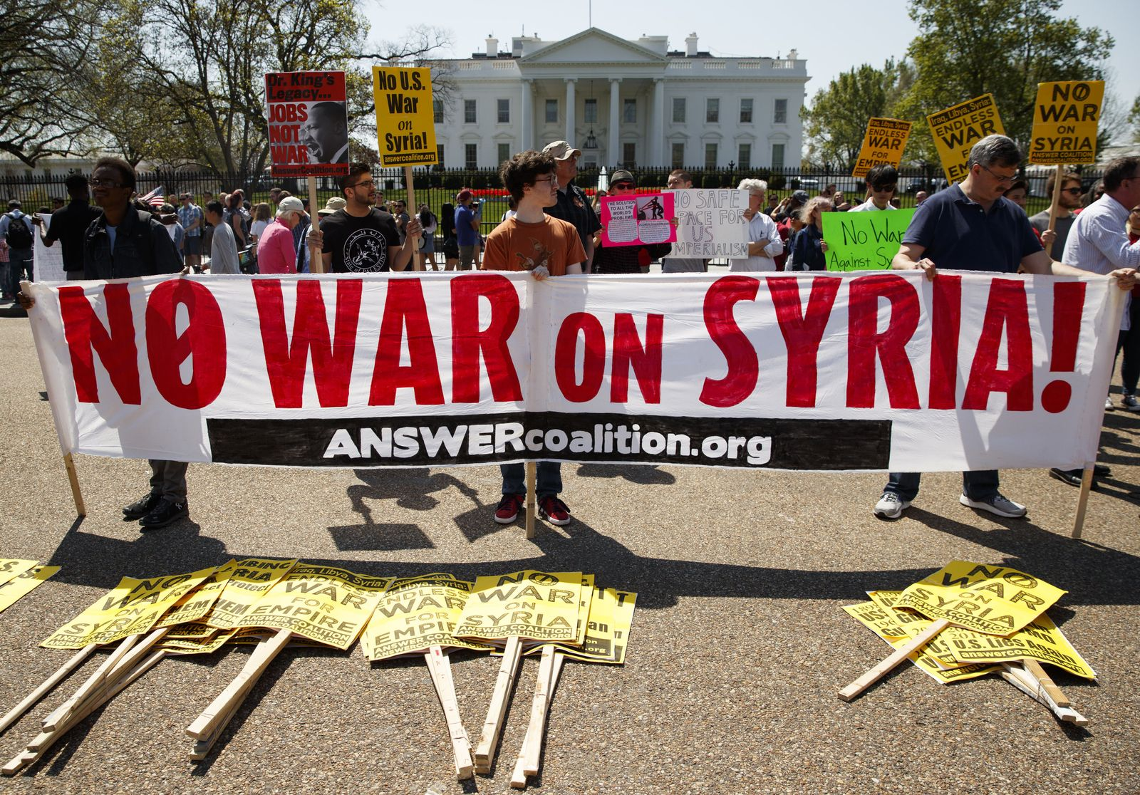 Proteste gegen Militärschlag in Syrien