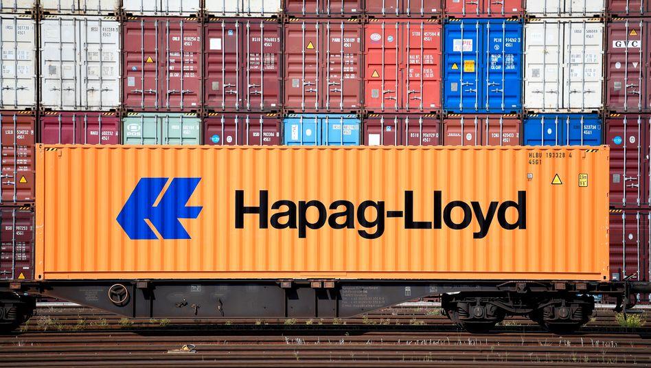 Hapag-Container im Hamburger Hafen: Milliardengewinn trotz Coronakrise
