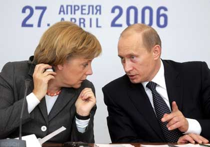 Merkel und Putin: Streit um Energieversorgung