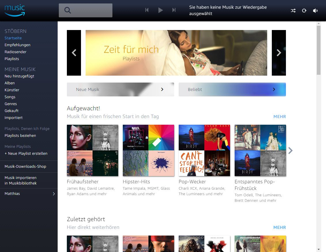 NUR ALS ZITAT Screenshot Amazon Music Unlimited 2