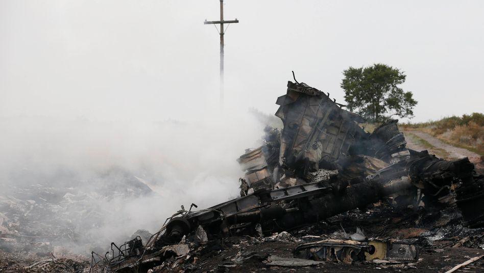 Abschussstelle der Boeing 777 der Malaysia Airlines: 298 Menschen starben am 17. Juli 2014