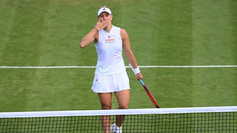 Küsse für das Publikum: Angelique Kerber hat rechtzeitig vor Wimbledon ihre Form wiedergefunden
