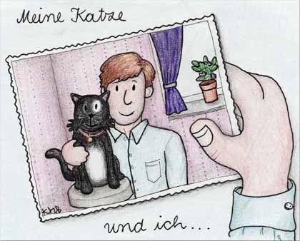 """""""Meine Katze und ich, wir sind gemeinsam auf dem Foto"""""""