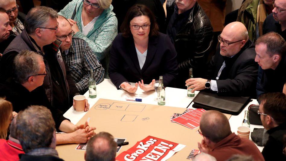 Andrea Nahles bei Regionalkonferenz in Kamen