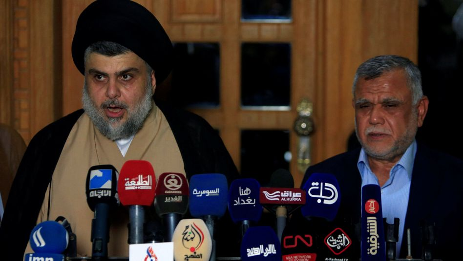 Muqtada al-Sadr und Hadi al-Amiri