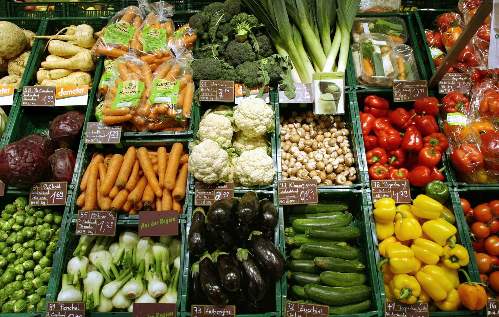 NICHT VERWENDEN Bio-Kette Alnatura / Bio-Gemüse