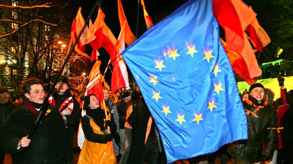 Ukrainer während der Orangen Revolution (2004): Herzenssache Europa