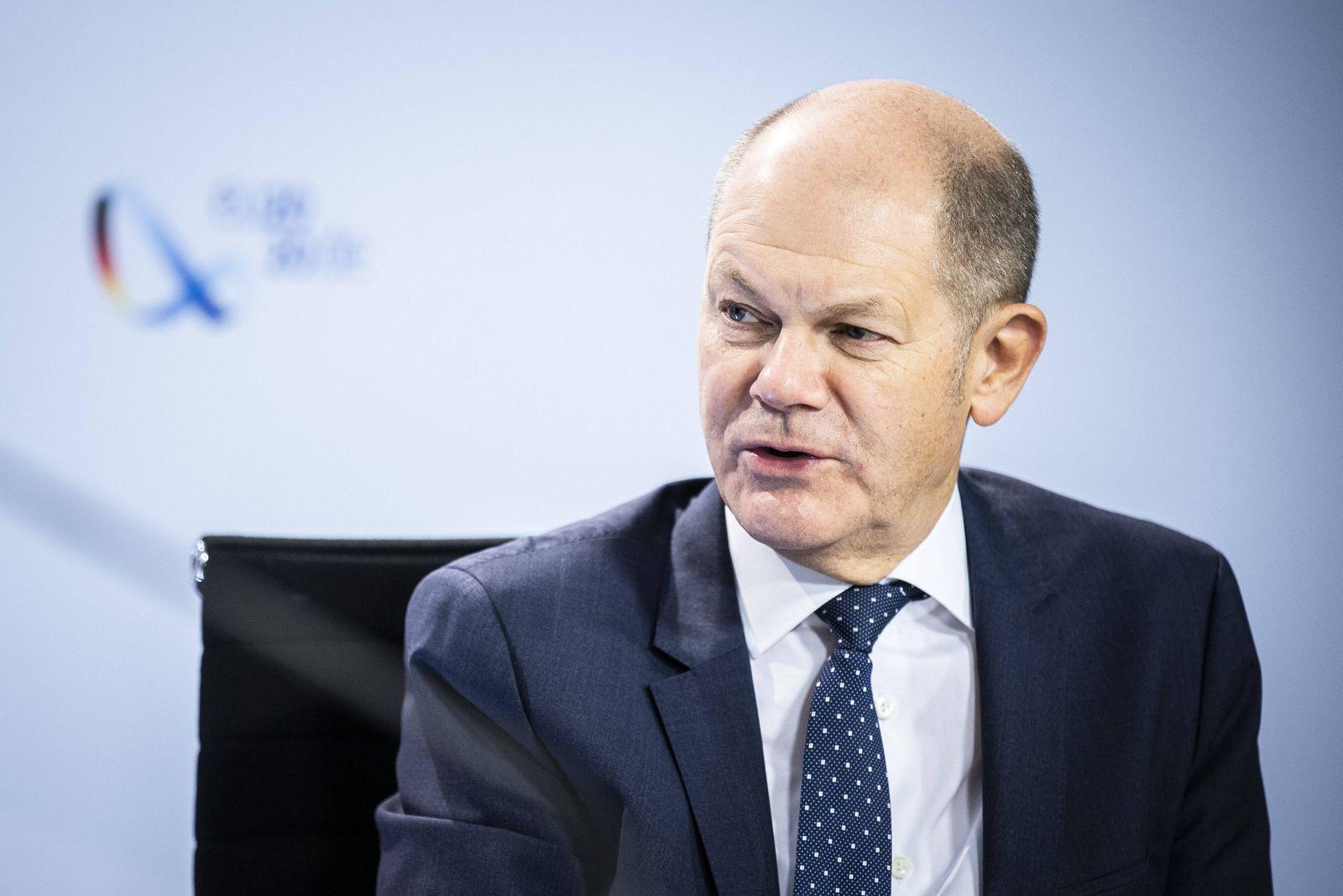 Olaf Scholz, Bundesminister der Finanzen, aufgenommen im Rahmen einer Videokonferenz in Berlin, 20.11.2020. Berlin Germ