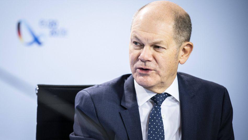 Olaf Scholz während der Videoschalte zum G20-Kongress am 21. November: 40 Milliarden Euro für Unternehmer, die unter dem Teil-Shutdown leiden