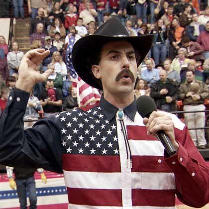Komiker Cohen als Borat: Den Weihnachtsmann ausgestochen