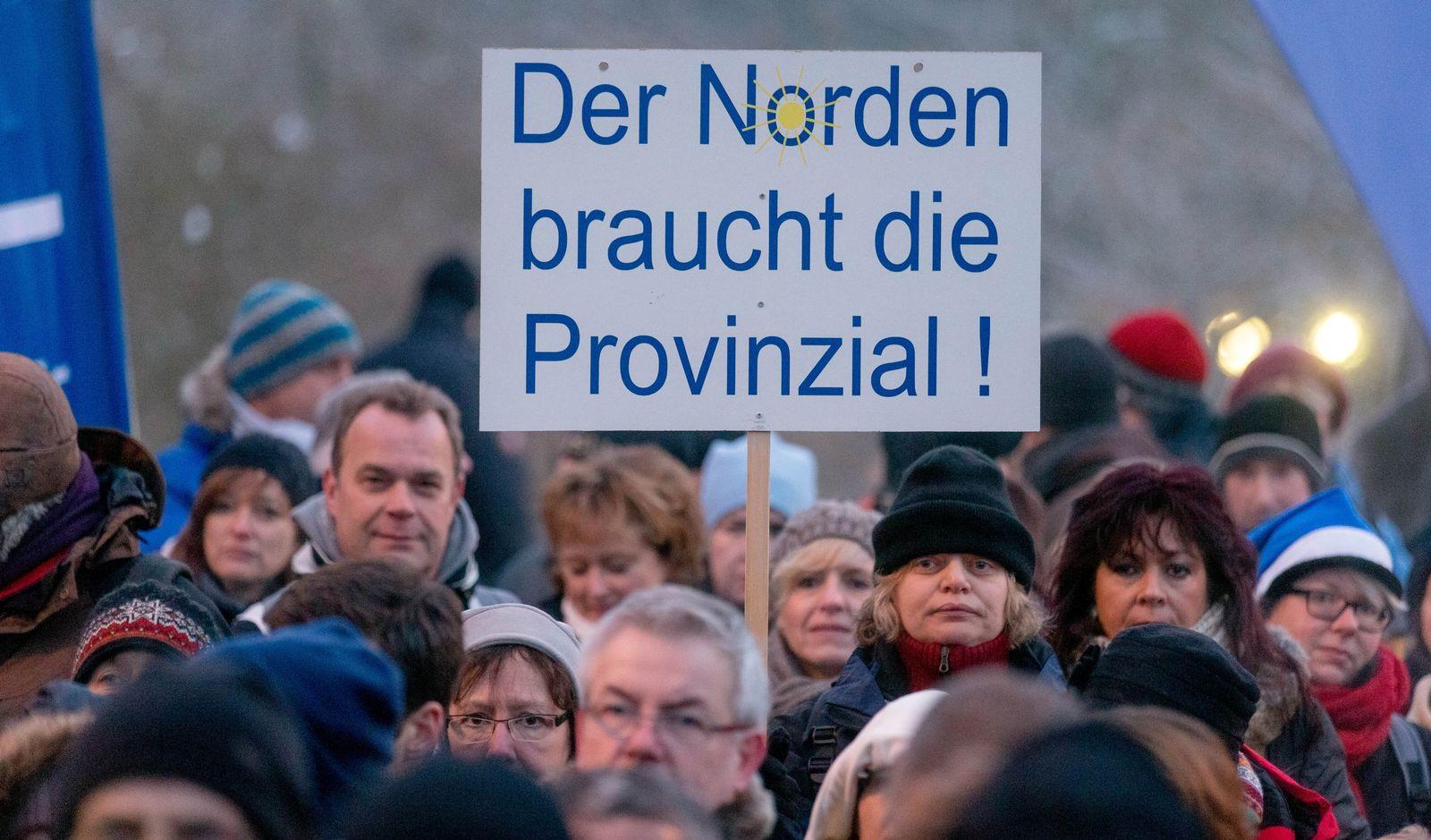 Protest gegen möglichen Verkauf der Provinzial Versicherung