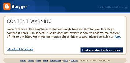Googles erste Reaktion: Rund 12 Stunden nach Veröffentlichung dieses Artikels reagierte die US-Firma mit einer Warnung vor den Inhalten von GIMF
