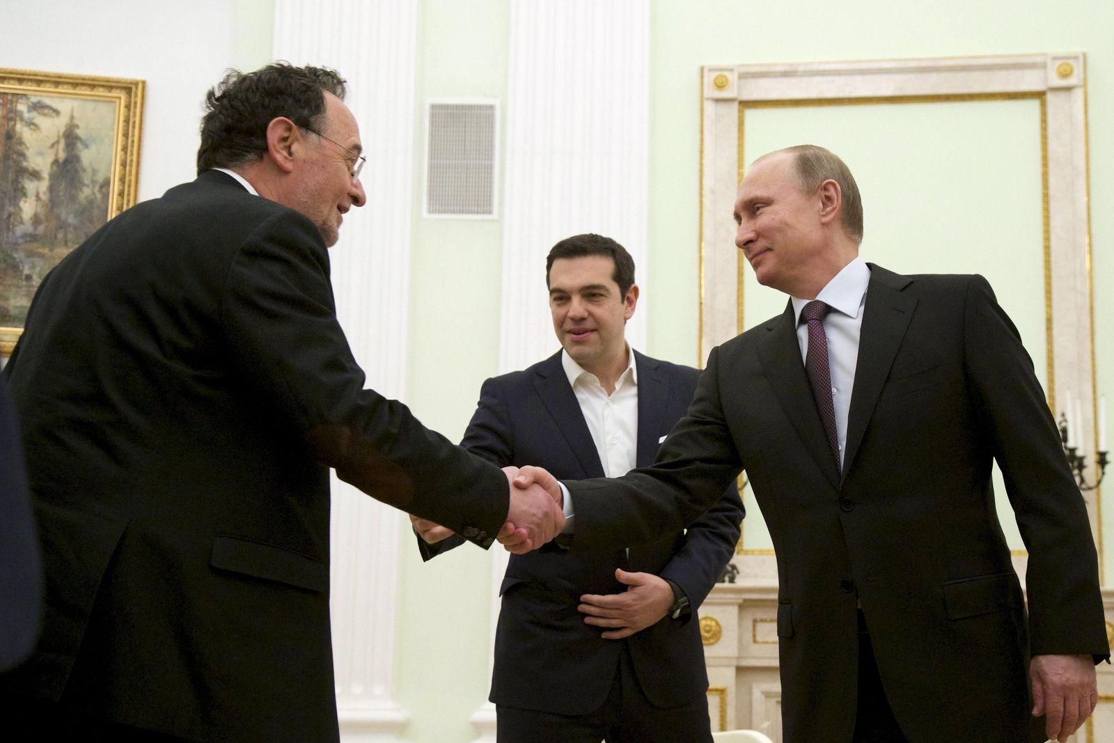 Putin, Lafazanis, Tsipras