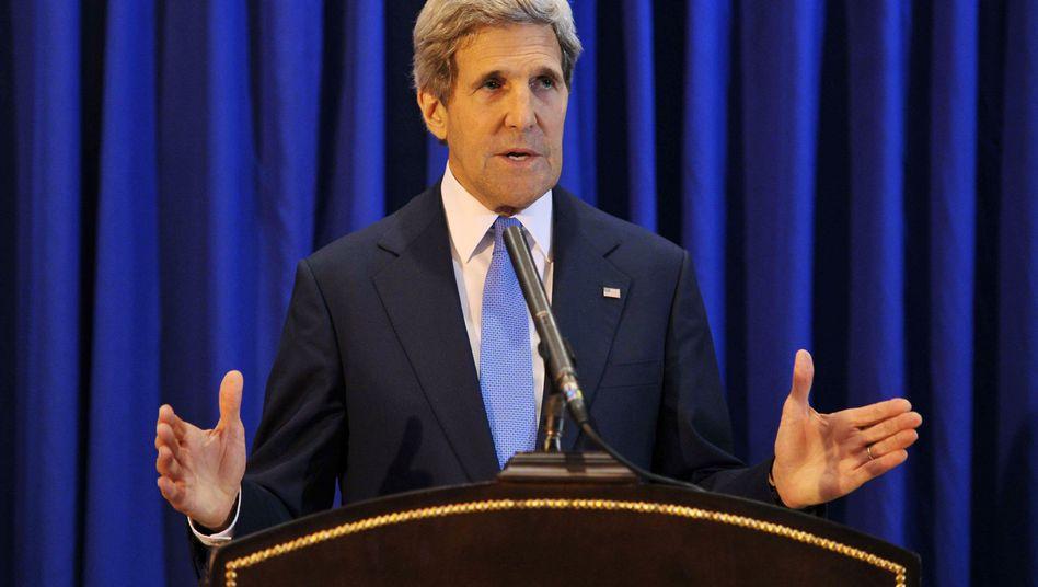 John Kerry in Amman: Hartnäckige Verhandlungen