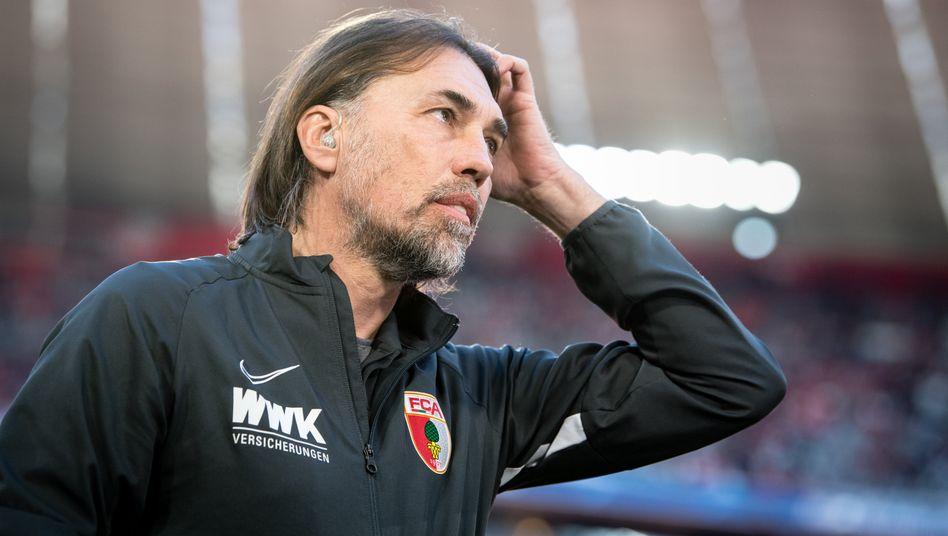 Trainer Martin Schmidt war knapp elf Monate im Job bei FC Augsburg