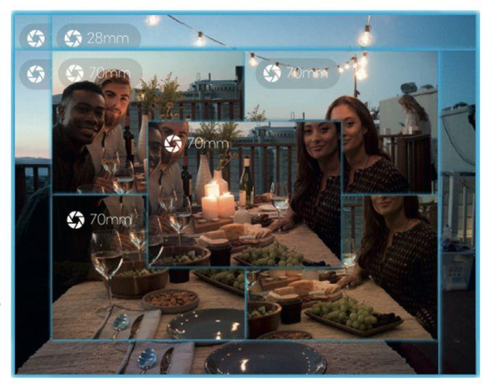 Die L16 nimmt überlappende Ausschnitte auf, die in der Kamera zu einem Bild mit 52 Megapixeln verrechnet werden.