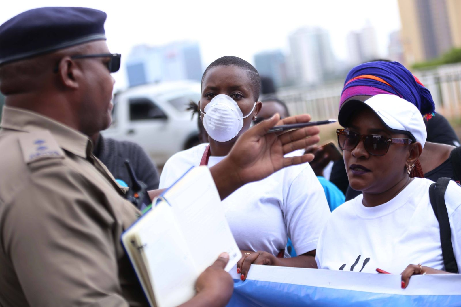March 4, 2020, Nairobi, Kenya: Police confront members of civil society who staged protest in Nairobi city demanding the