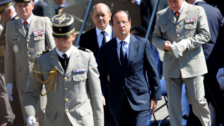 Präsident Hollande: Drohung gegen Assad
