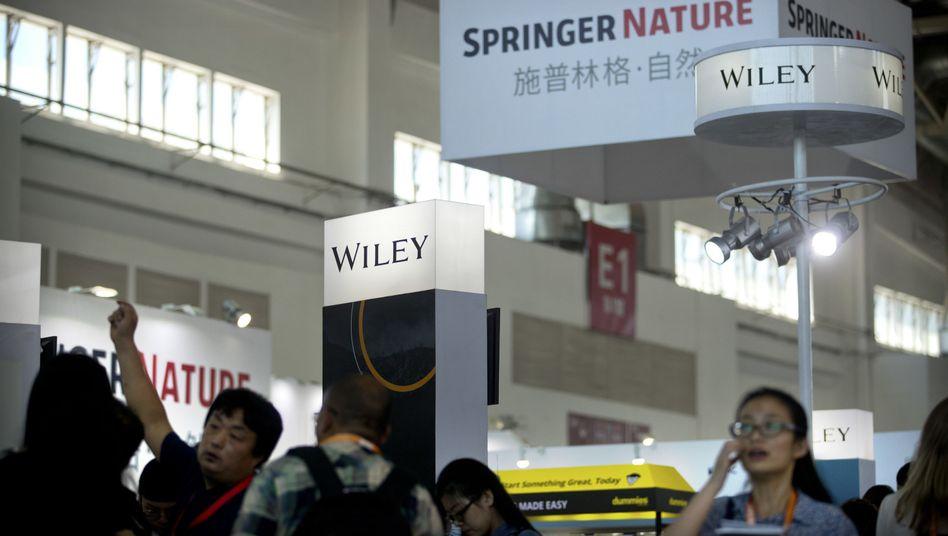 Springer Nature-Stand bei der Buchmesse in Peking