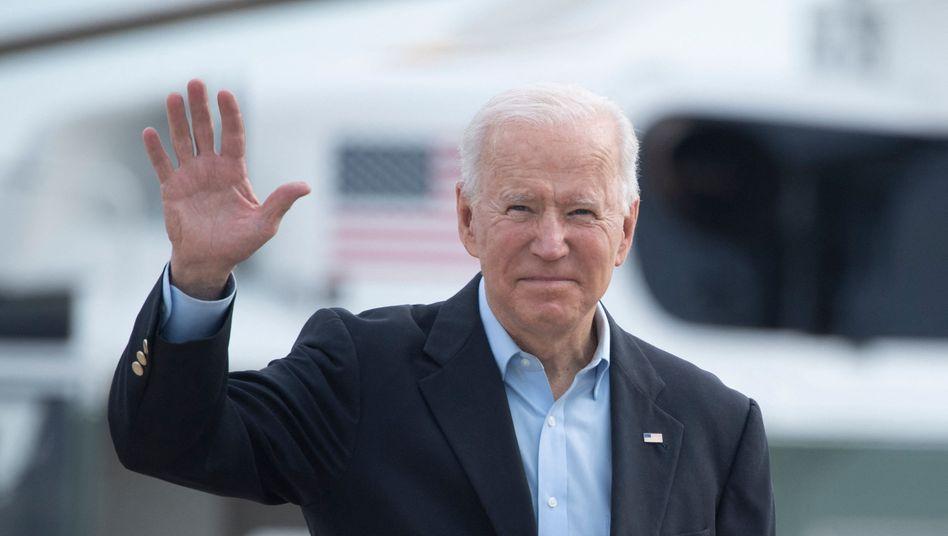 Joe Biden vor dem Abflug